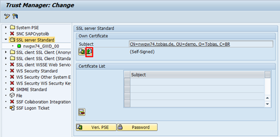 Install a server certificate in SAP NetWeaver ABAP – 3.4 Import the ...