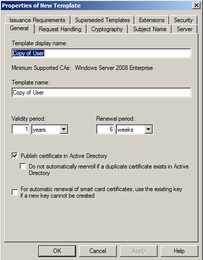 Microsoft ca create a new certificate template its full of stars please be aware that with this the new certificate template is only available for the ca yelopaper Images