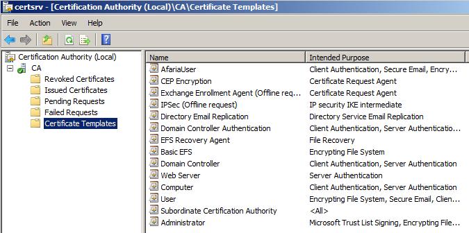 Microsoft CA - create a new certificate template | It`s full