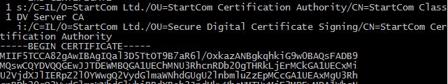 openssl certificate chain verify server dv class