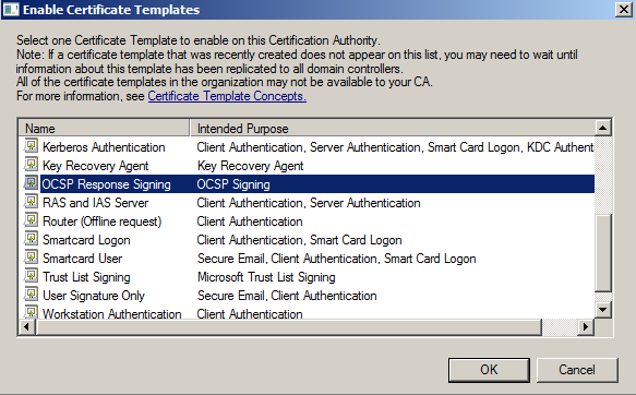 Certificate authority its full of stars select the ocsp response signing certificate yelopaper Image collections