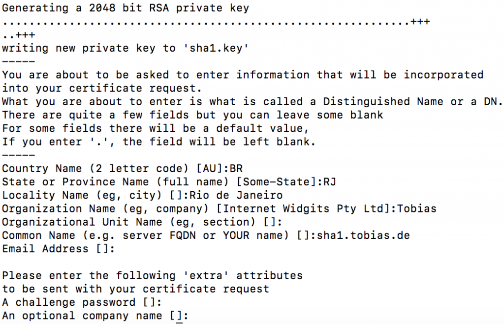 OpenSSL CA to sign CSR with SHA256 - Sign CSR issued with SHA-1 | It