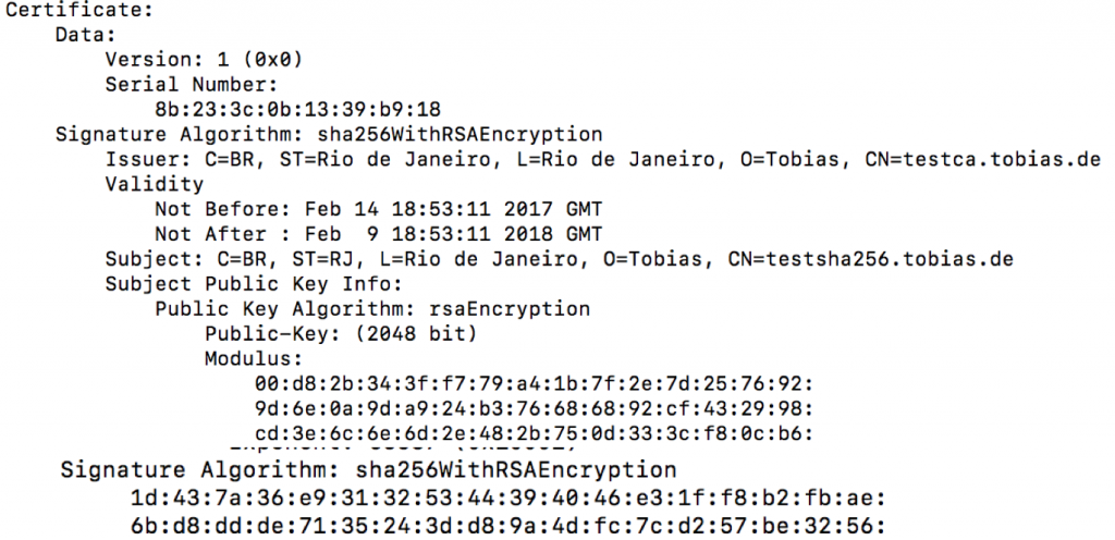 OpenSSL CA to sign CSR with SHA256 - Sign CSR issued with