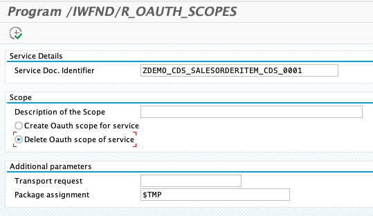 delete oauth scope report