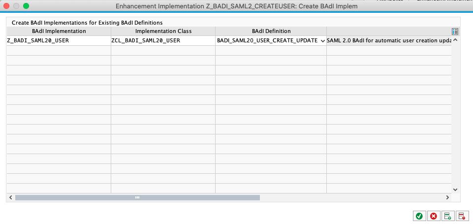 Create BADI implementation screen